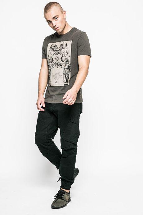 Spodnie męskie Graphic Monochrome czarne