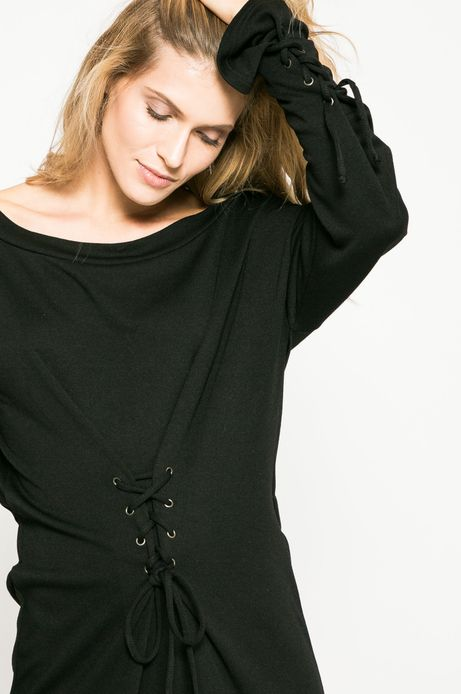Sukienka damska Dark Bloom czarna