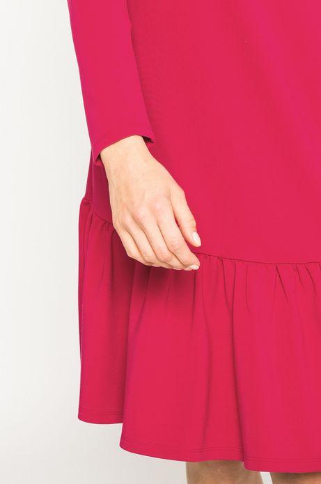 Sukienka damska Dark Bloom różowa