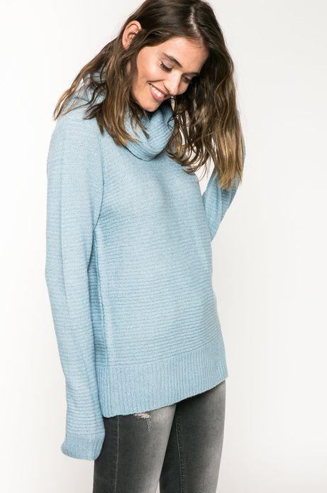 Sweter Back to Nature niebieski