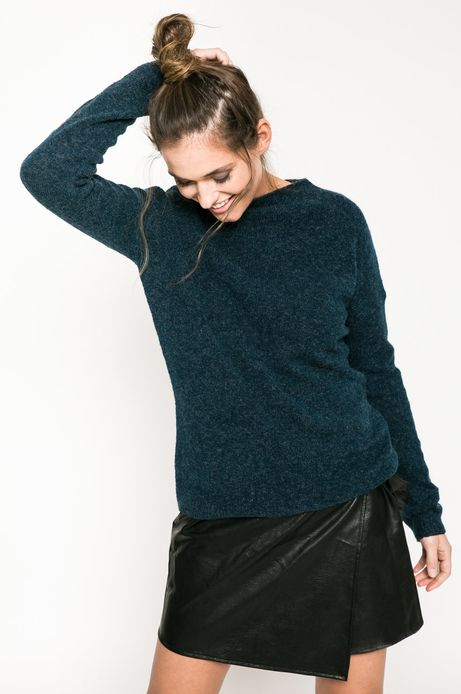 Woman's Sweter Back to Nature turkusowy