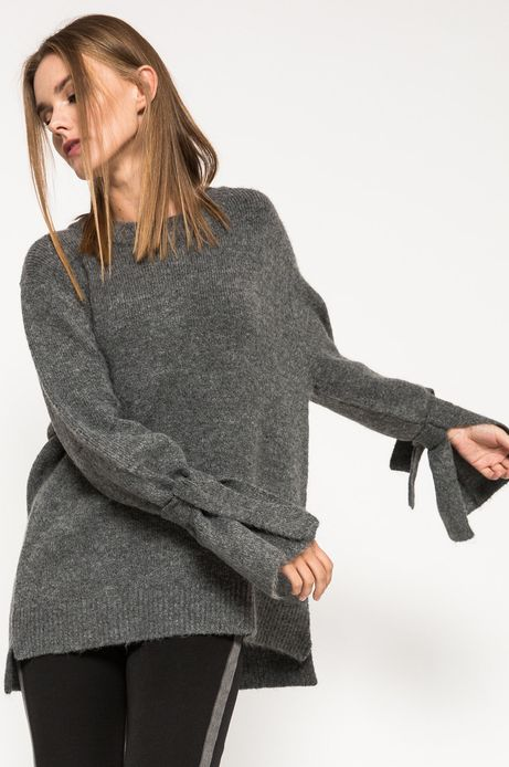 Sweter damski szary