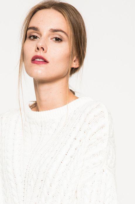 Woman's Sweter Grey Earth biały