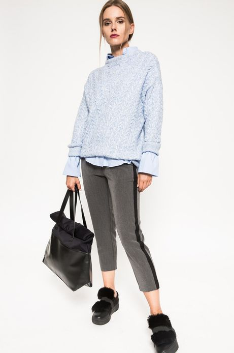 Woman's Sweter Grey Earth niebieski