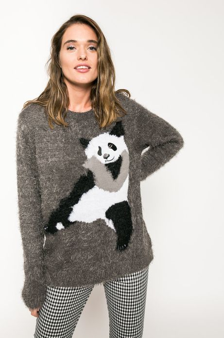 Woman's Sweter Back to Nature szary