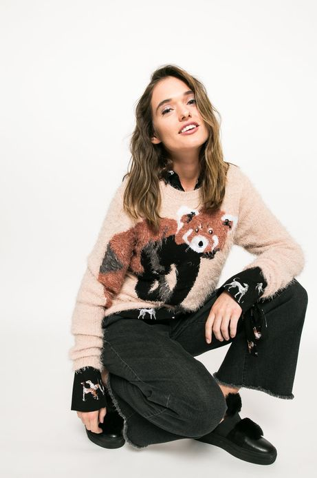 Sweter Back to Nature różowy