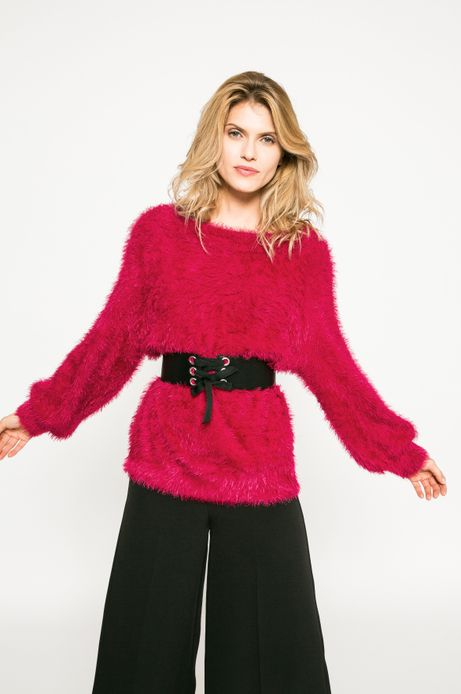 Woman's Sweter damski Dark Bloom różowy