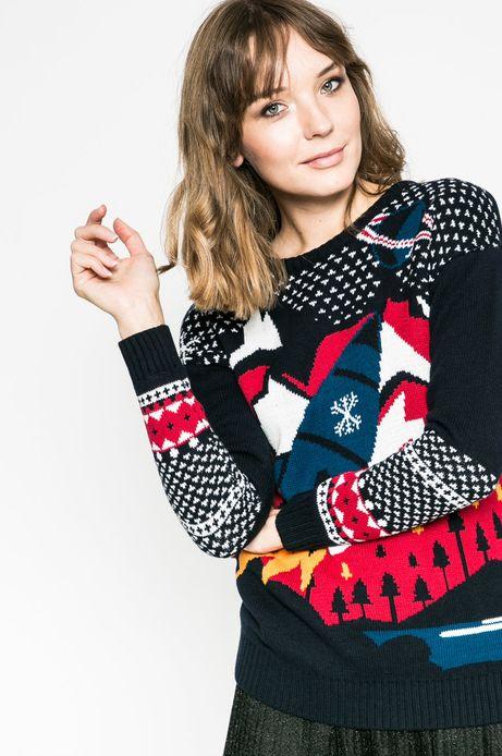 Sweter damski Xmas granatowy