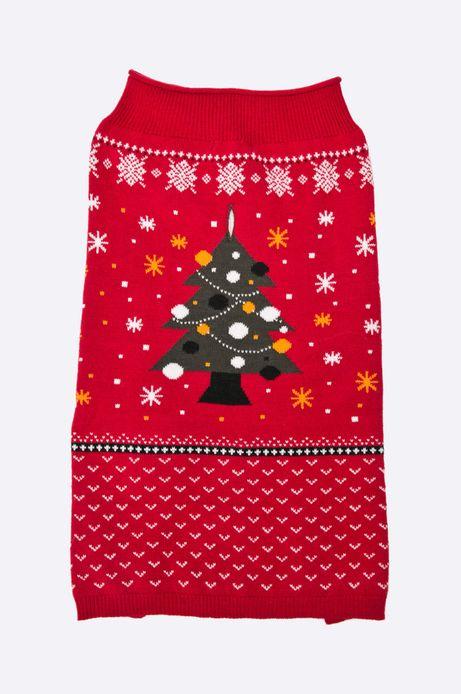 Sweter dla psa Xmas czerwony