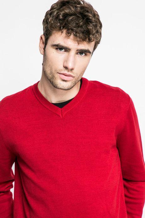 Sweter Graphic Monochrome czerwony