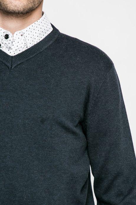 Sweter Graphic Monochrome granatowy
