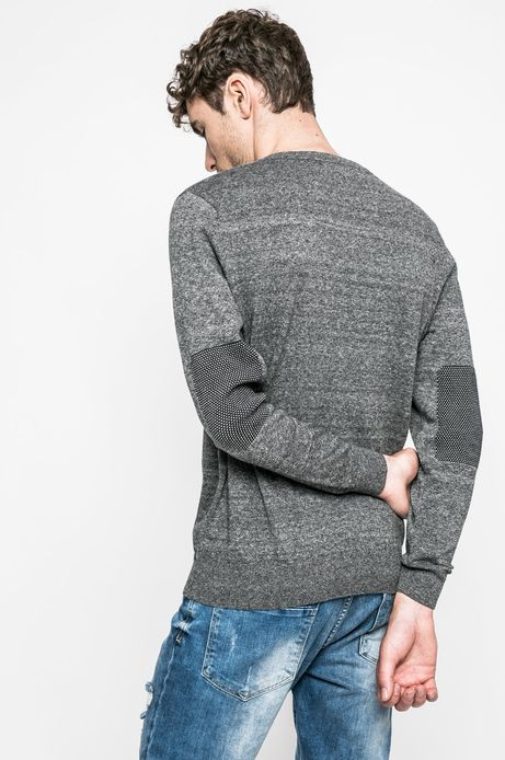 Sweter Graphic Monochrome szary