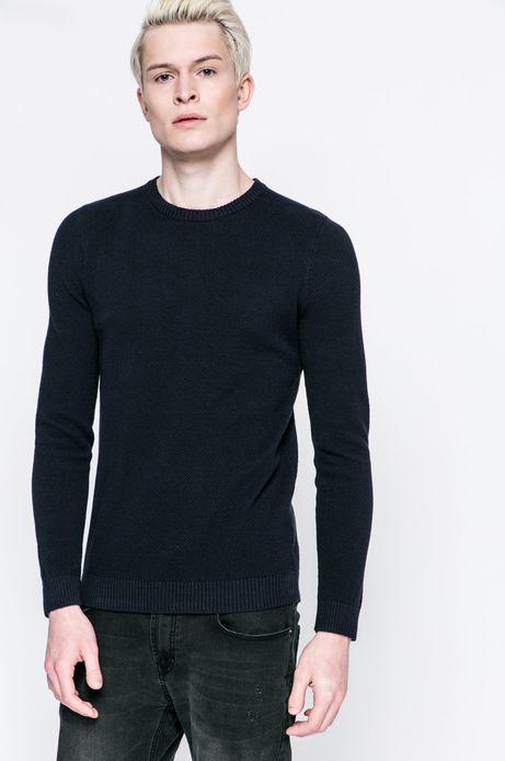 Sweter 8_Graphic Monochrome granatowy
