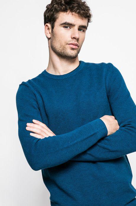 Sweter 8_Graphic Monochrome turkusowy