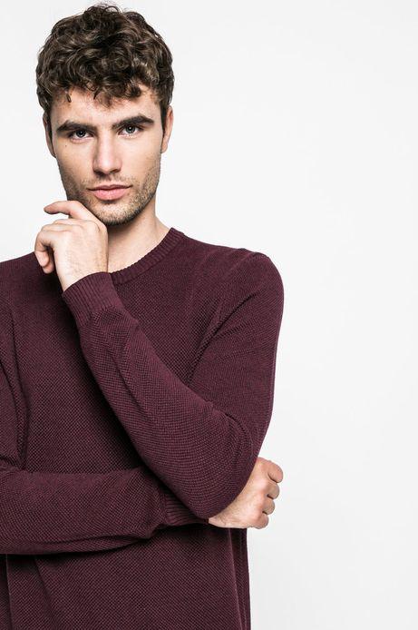 Sweter 8_Graphic Monochrome brązowy