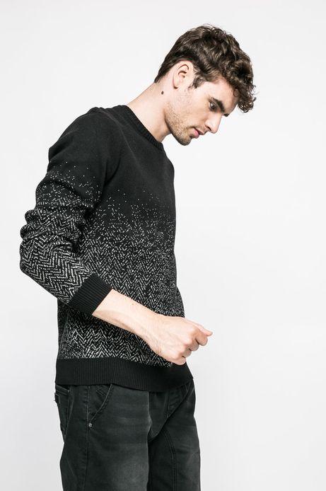 Sweter Graphic Monochrome czarny