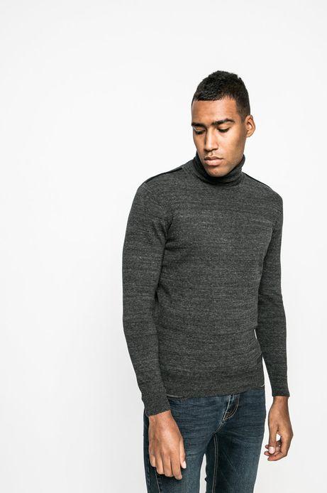 Man's Sweter Graphic Monochrome szary