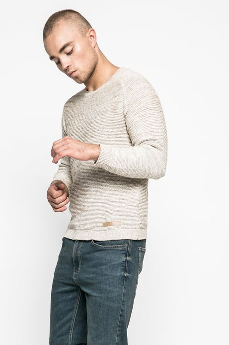 Man's Sweter męski Human Nature beżowy