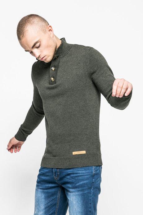 Man's Sweter męski Human Nature ciemnozielony