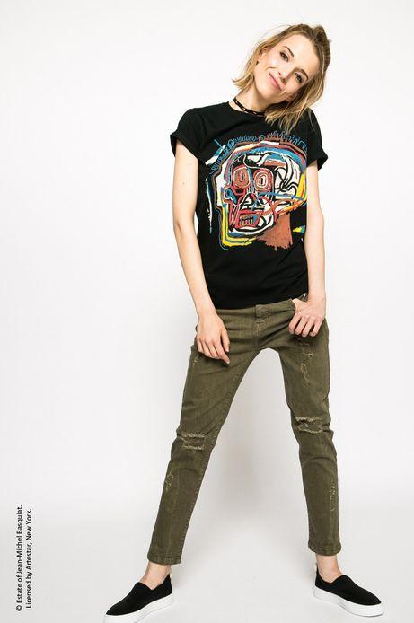Top Jean-Michel Basquiat czarny