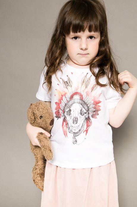 Woman's Top dziecięcy Tattoo Konwent biały