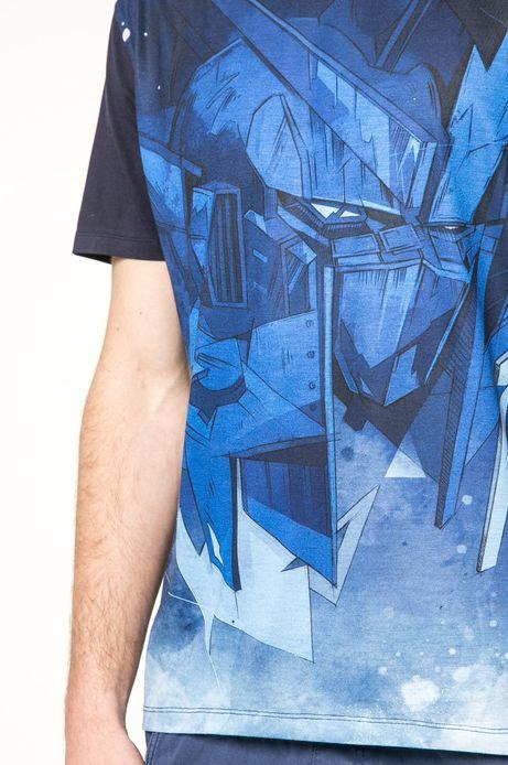 T-shirt Mr. Robot granatowy