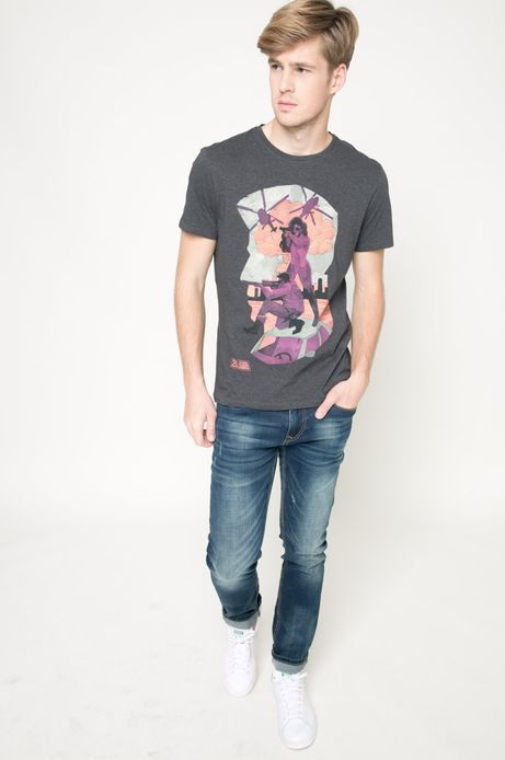 T-shirt by Patryk Hardziej  szary