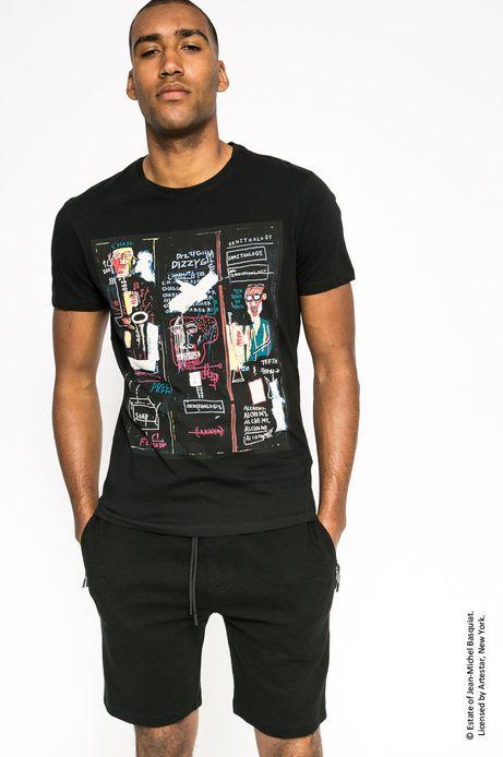 T-shirt Jean-Michel Basquiat czarny