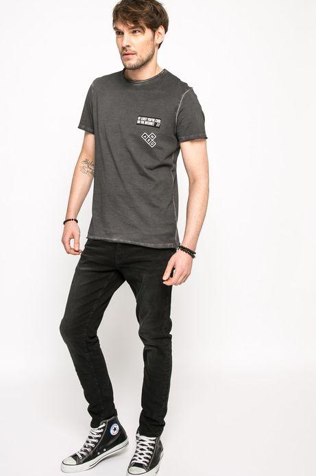 T-shirt Let's Rebel szary
