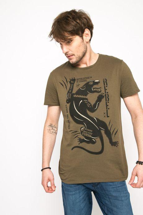 T-shirt Let's Rebel zielony