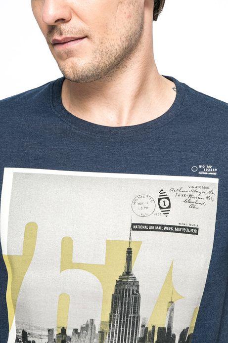 T-shirt Urban Utility granatowy
