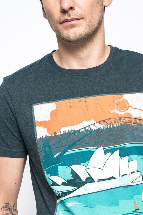 T-shirt Urban Utility niebieski