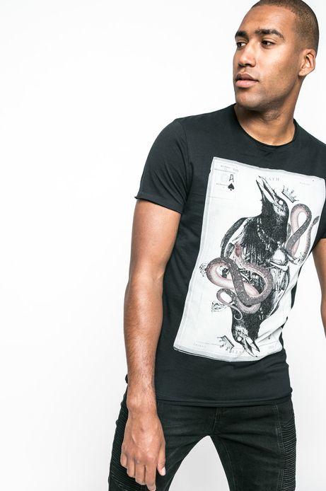 T-shirt Let's Rebel czarny