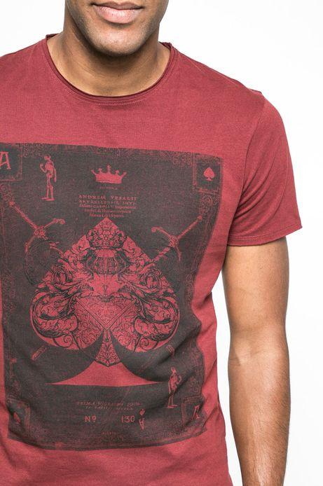 T-shirt Let's Rebel czerwony