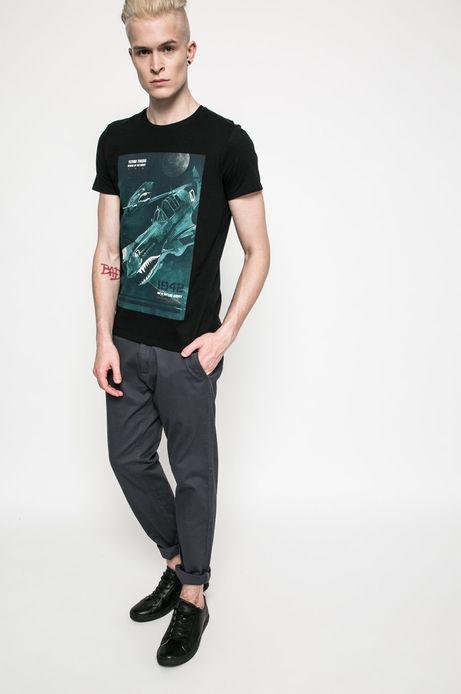 T-shirt Air Force czarny