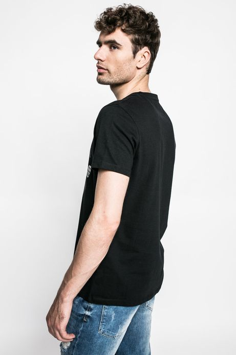 T-shirt Graphic Monochrome czarny