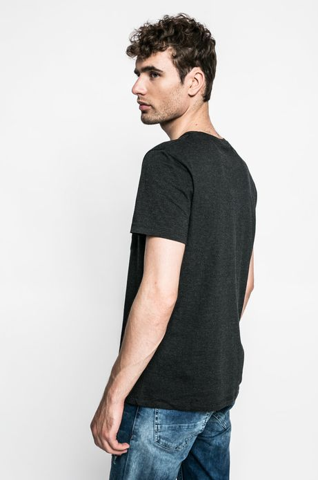 T-shirt Graphic Monochrome szary
