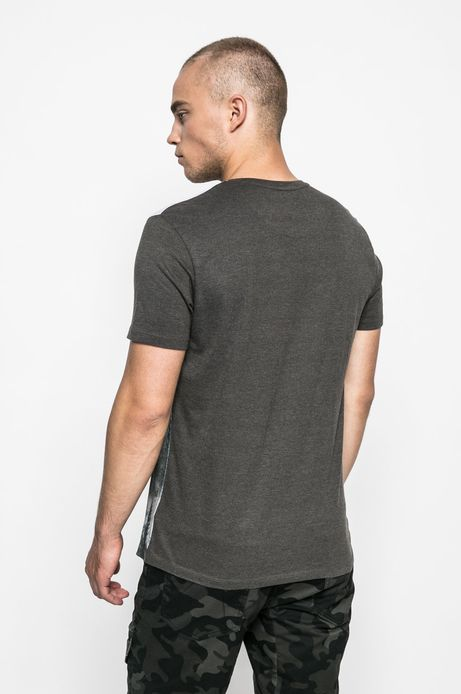 T-shirt męski Human Nature brązowy