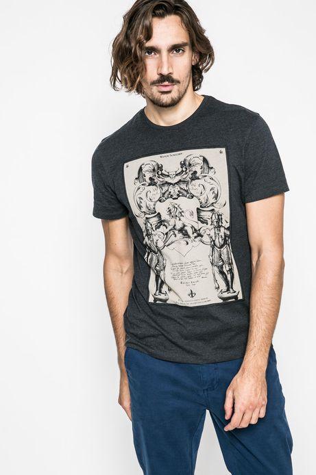 T-shirt męski Lord and Master granatowy