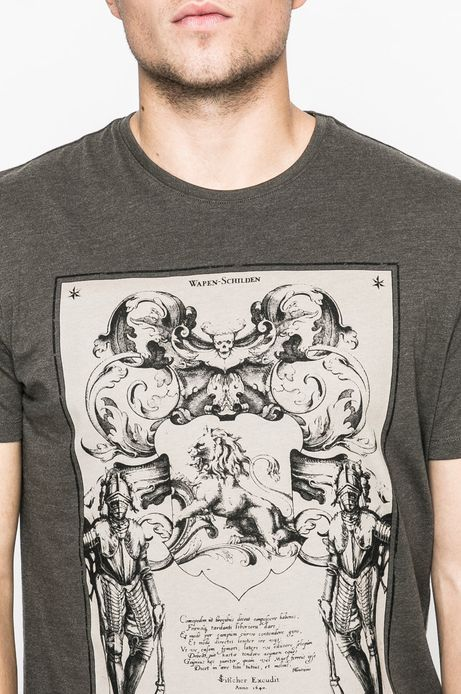 T-shirt męski Lord and Master zielony