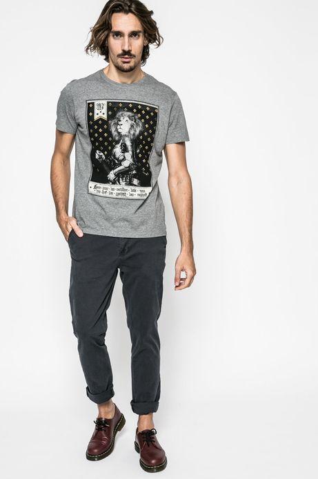 T-shirt męski Lord and Master szary