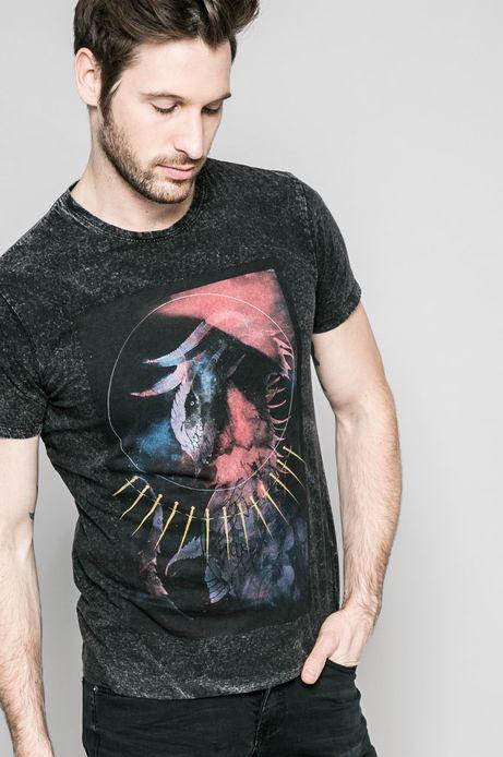 Man's T-shirt męski Invicible Warriors czarny