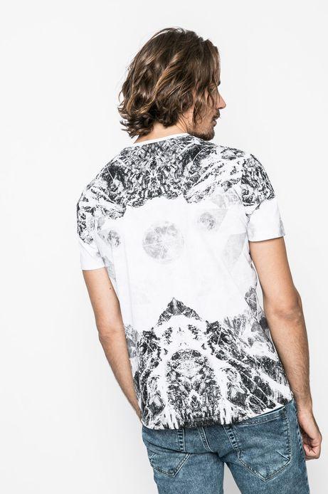 T-shirt męski Nocturnal biały
