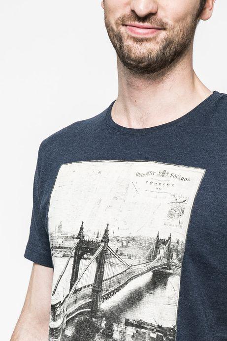 T-shirt męski Grand Hotel Budapest granatowy