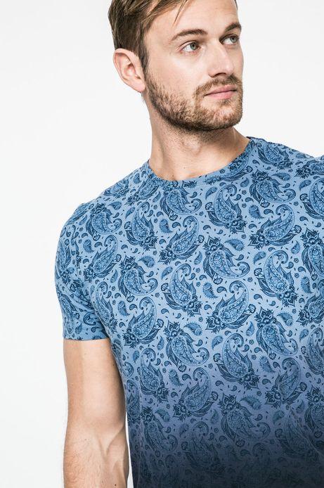 T-shirt męski Grand Hotel Budapest niebieski