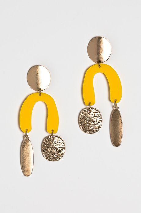 Kolczyki damskie żółte
