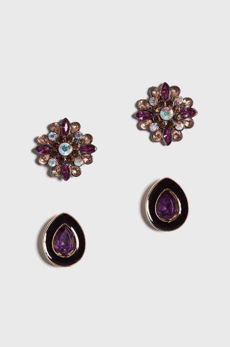 Kolczyki damskie Vintage Revival fioletowy