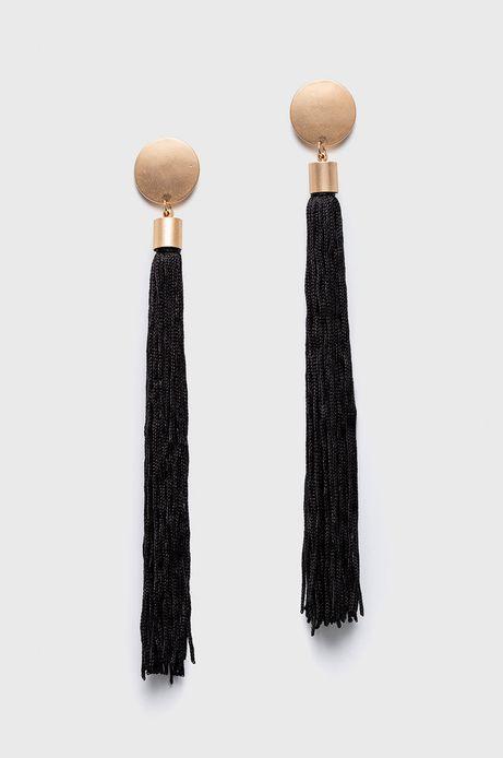 Kolczyki damskie czarne wiszące
