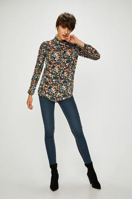 Koszula damska czarna we wzory