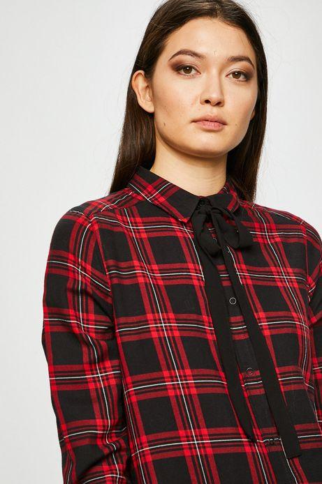 Koszula damska czerwona w kratkę